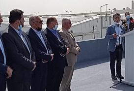 افتتاح مشروع توليد الطاقة الكهربائية في غزة
